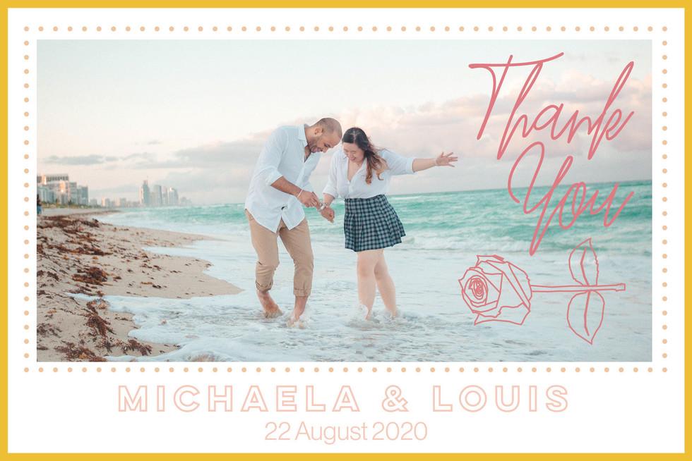 Michaela & Louis 2020 - Thank You Card
