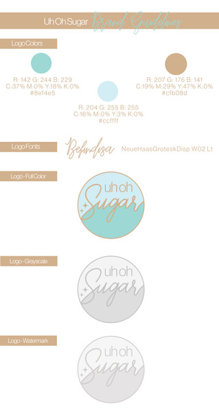 Uh Oh Sugar | Brand Guidelines