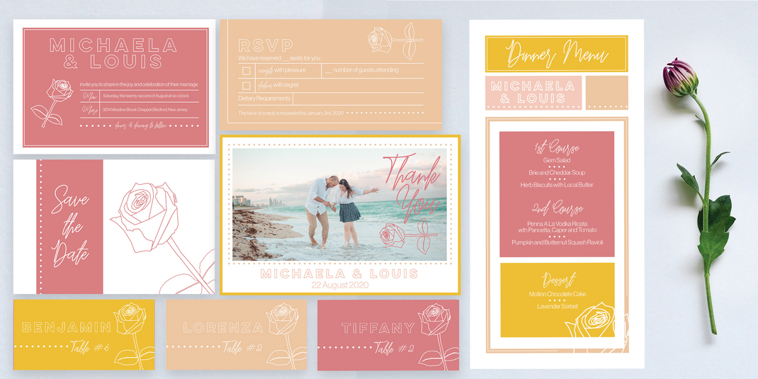 Michaela & Louis 2020 - Stationary Package