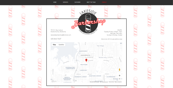 Lakeside Barbershop | Web Design