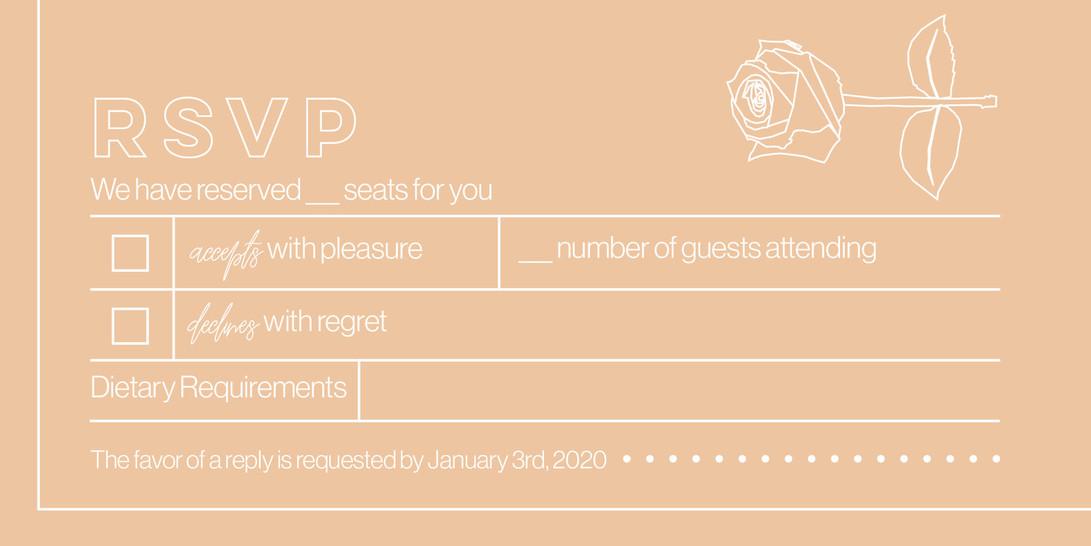 Michaela & Louis 2020 - RSVP Card