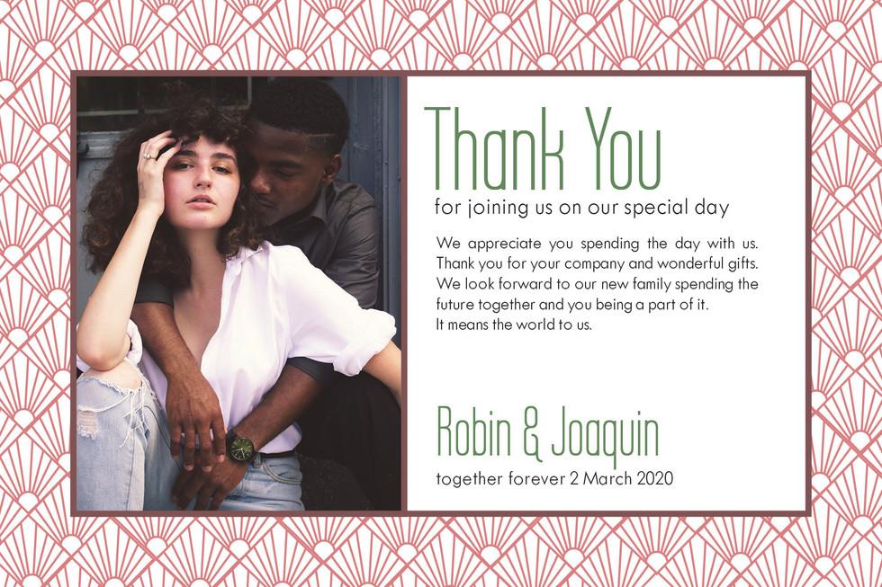 Robin & Joaquin - Thank You Cards
