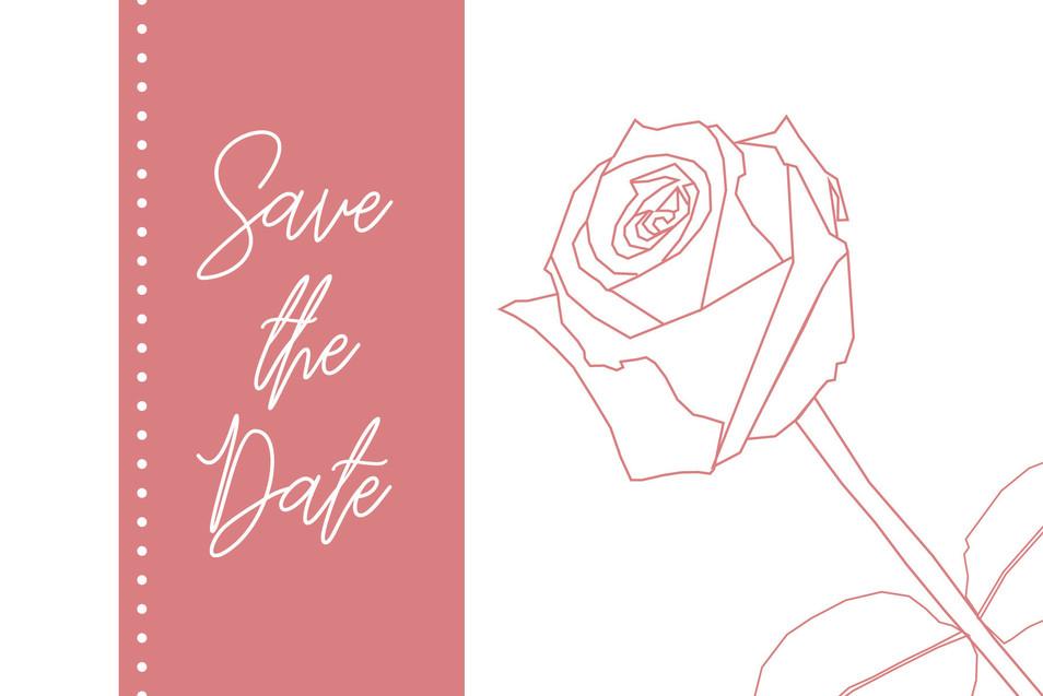 Wedding Mockup 1 - Save the Date (Back)