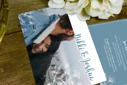 Nikki & Joshua Collection - Invitation (front and back)