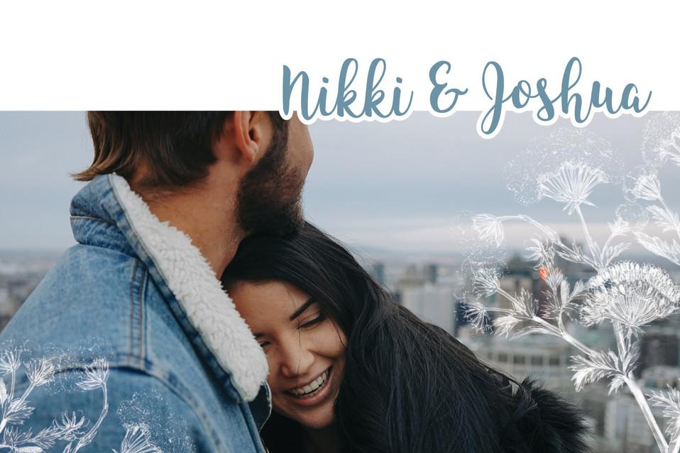 Nikki & Joshua Collection - Invitation (front)