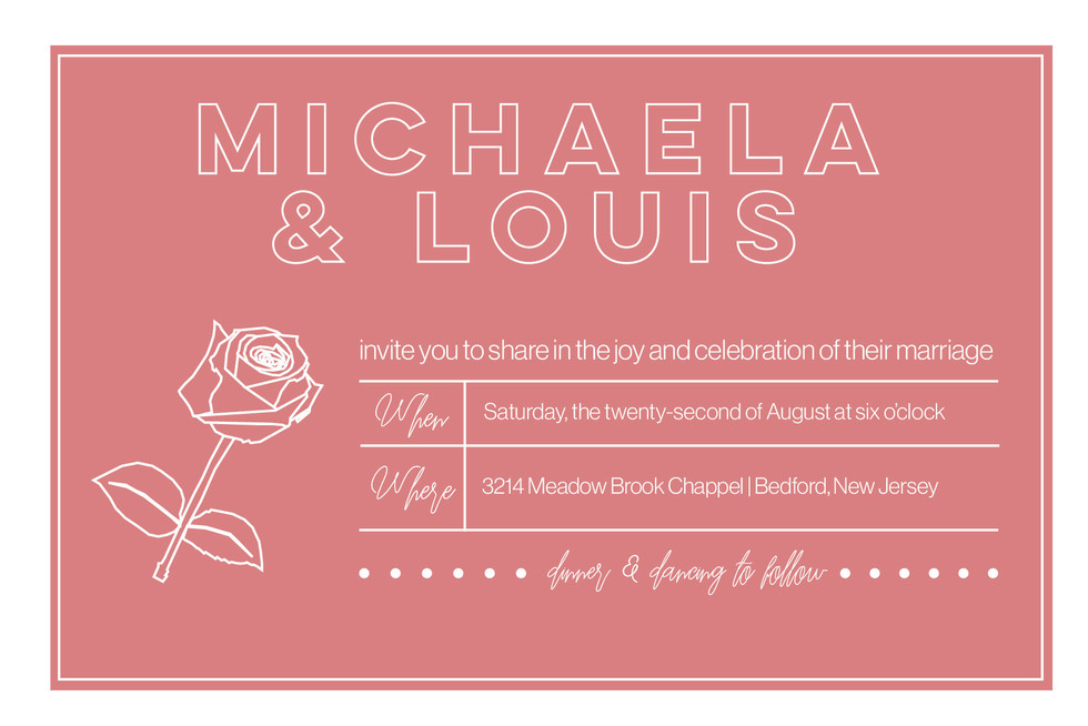 Wedding Mockup 1 - Save the Date (Front)