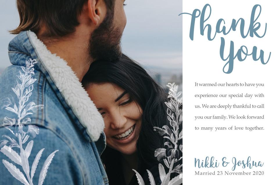 Nikki & Joshua Collection - Thank You Card