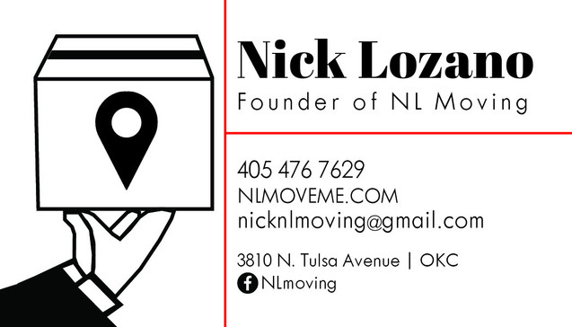 NL Moving Business Card (Front)