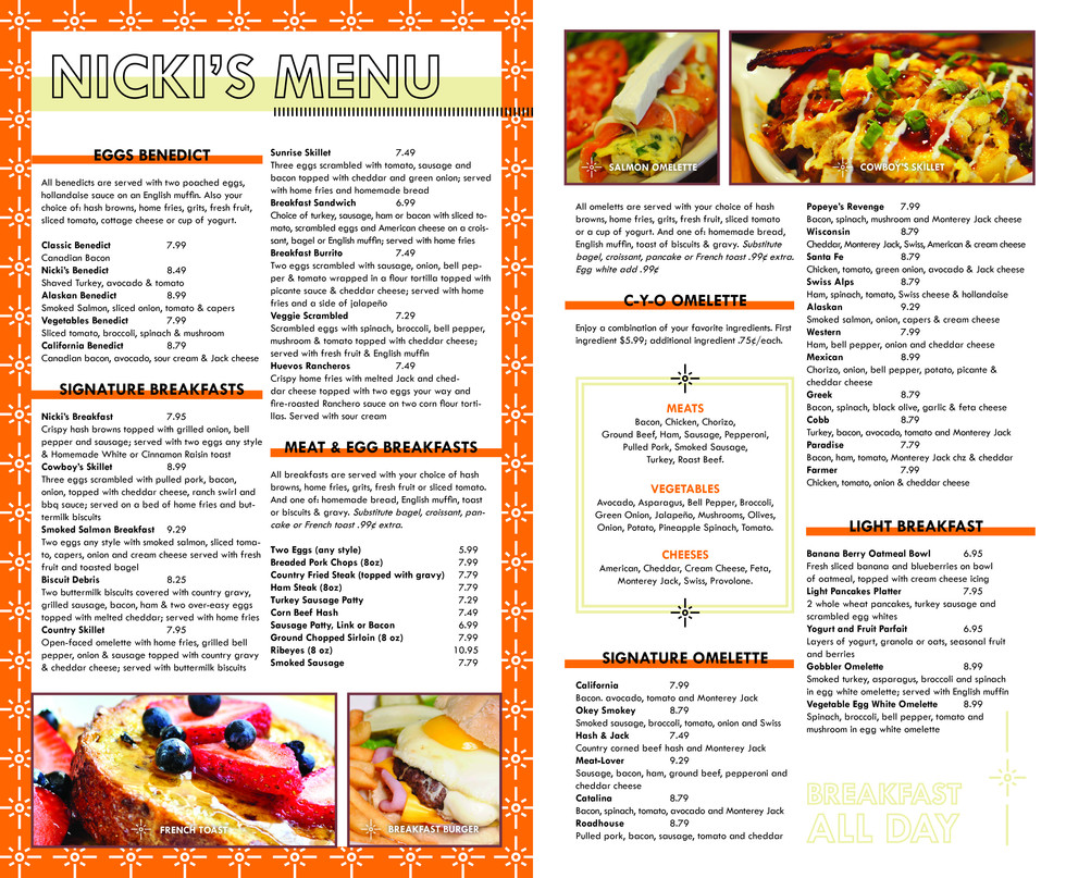 Nicki's Omelette & Grill - Pages 2&3