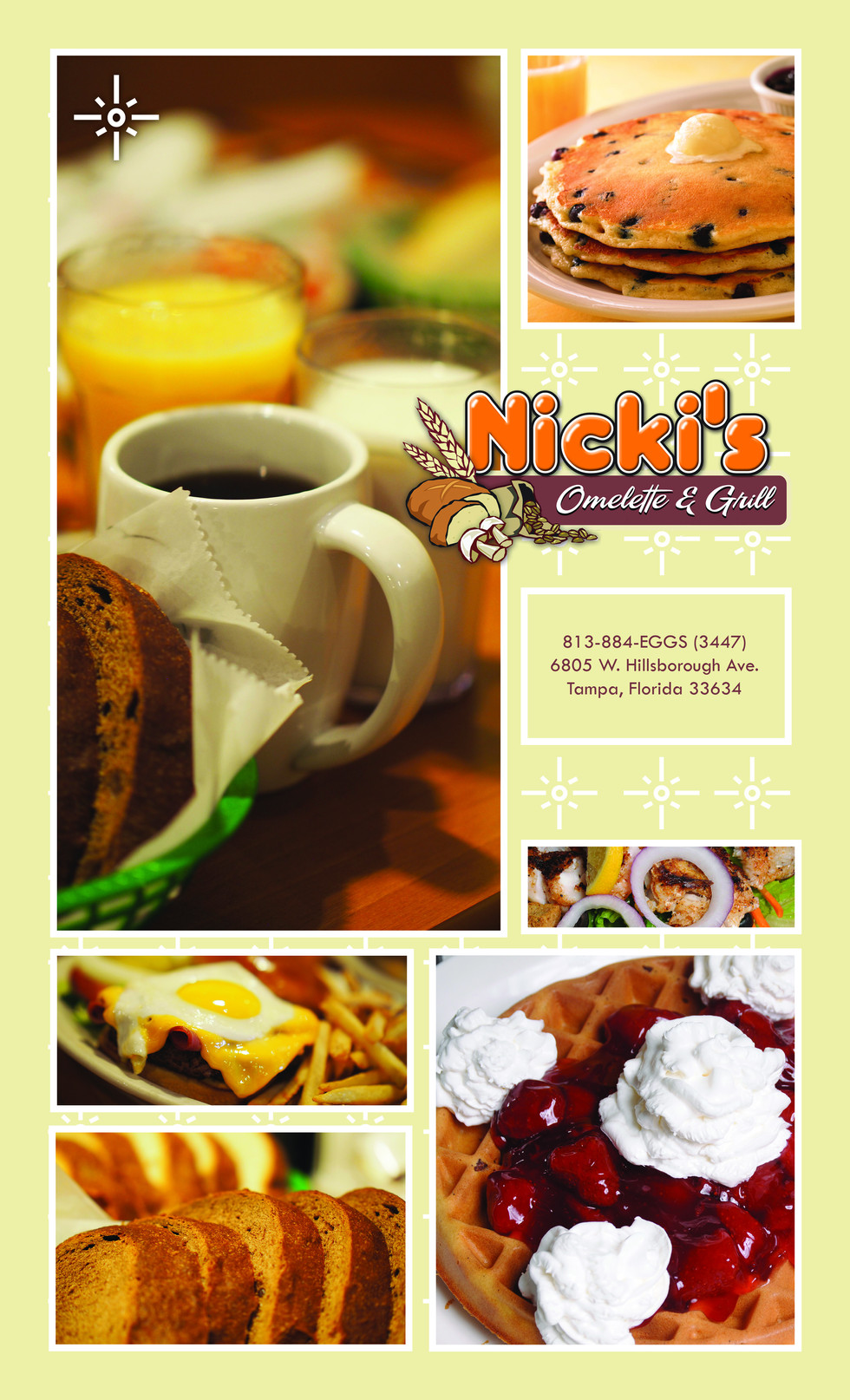 Nicki's Omelette & Grill - Back Page