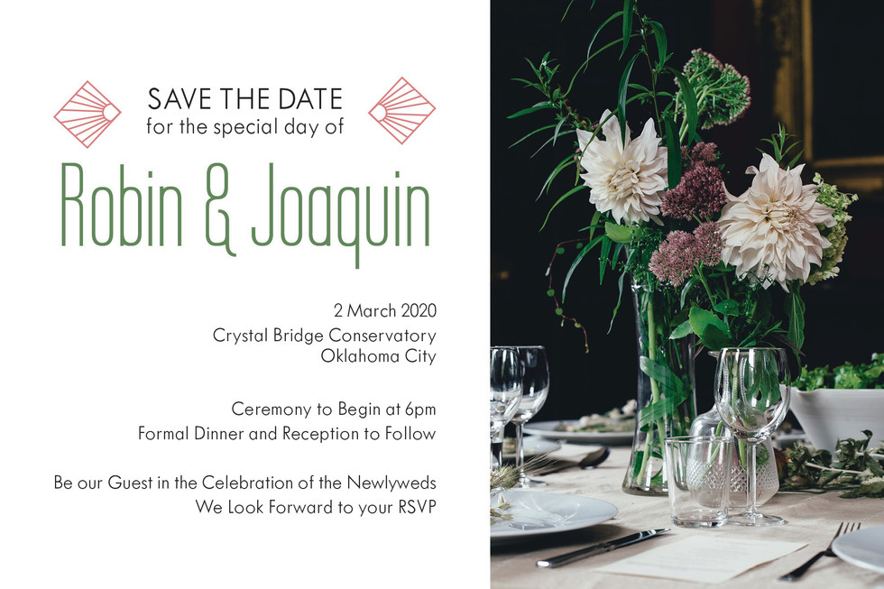 Robin & Joaquin - Invite (Front)