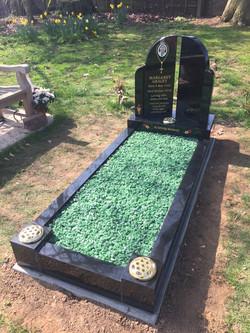 Headstone with full kerbs