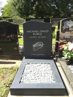 Half ogee cremation stone