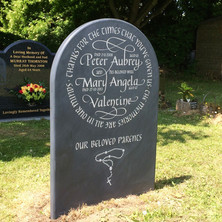 Slate headstone