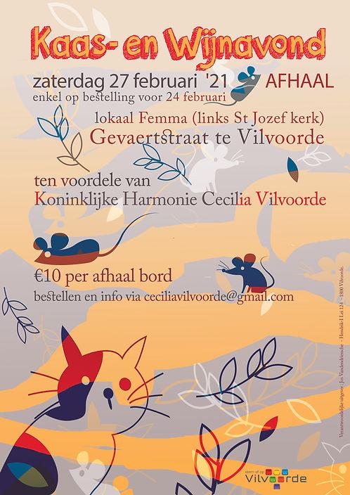 harmonie kaas en wijn editie AFFICHE  AF