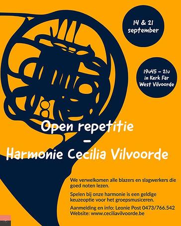 Open repetitie Harmonie Cecilia