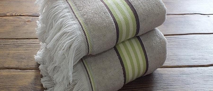 Полотенце из хлопка и льна