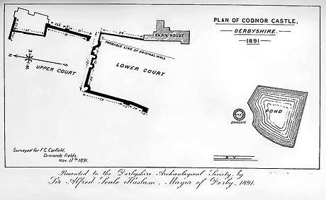 Plan of Codnor Castle 1891.jpg