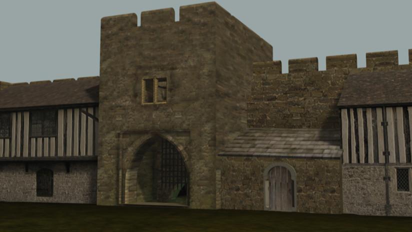 Inside Codnor Castle circa 1200-1250 sho