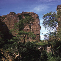 View of Codnor Castle from the east moat