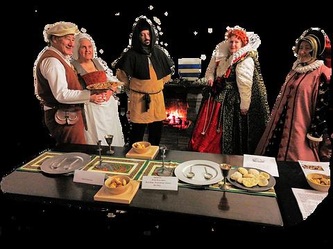 Trustees dressed as Tudors