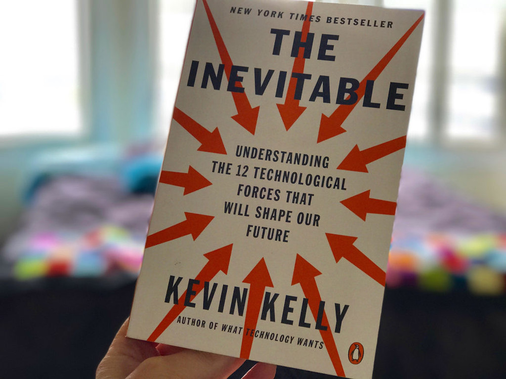 The Inevitable, a book by kevin kelly talking about forces that will shape future, including sharing and crowdfunding equity