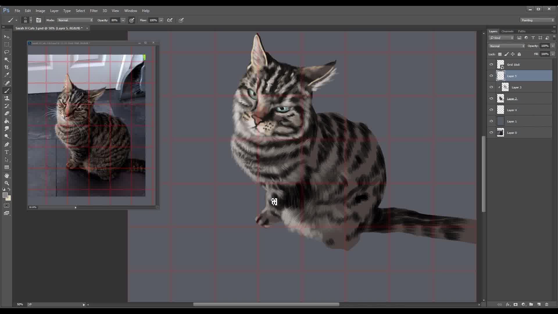Digitally Painting a Cat
