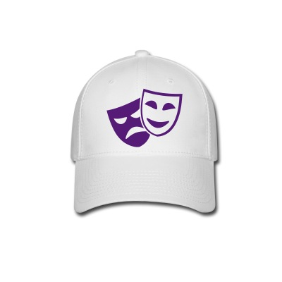 Hat With Purple Drama/Comedy Masks