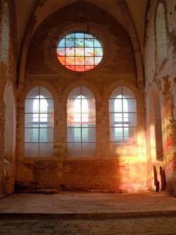 Rosace du chœur de l'église