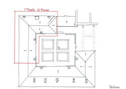 Plan de toiture ⓒ Régis Martin (ACMH)