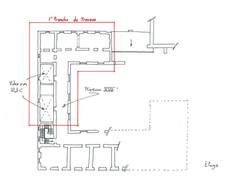 Plan de l'étage ⓒ Régis Martin (ACMH)