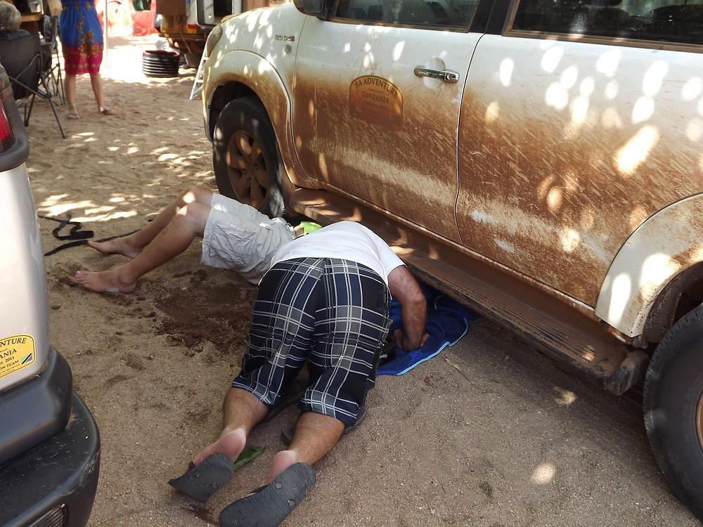 Broken Toyota Propshaft