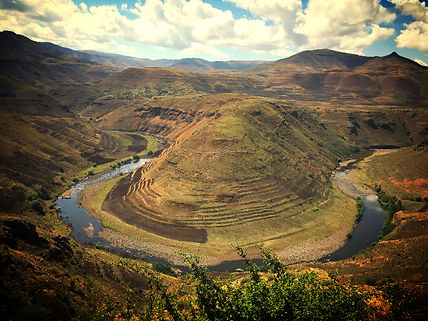 Oxbow in Lesotho
