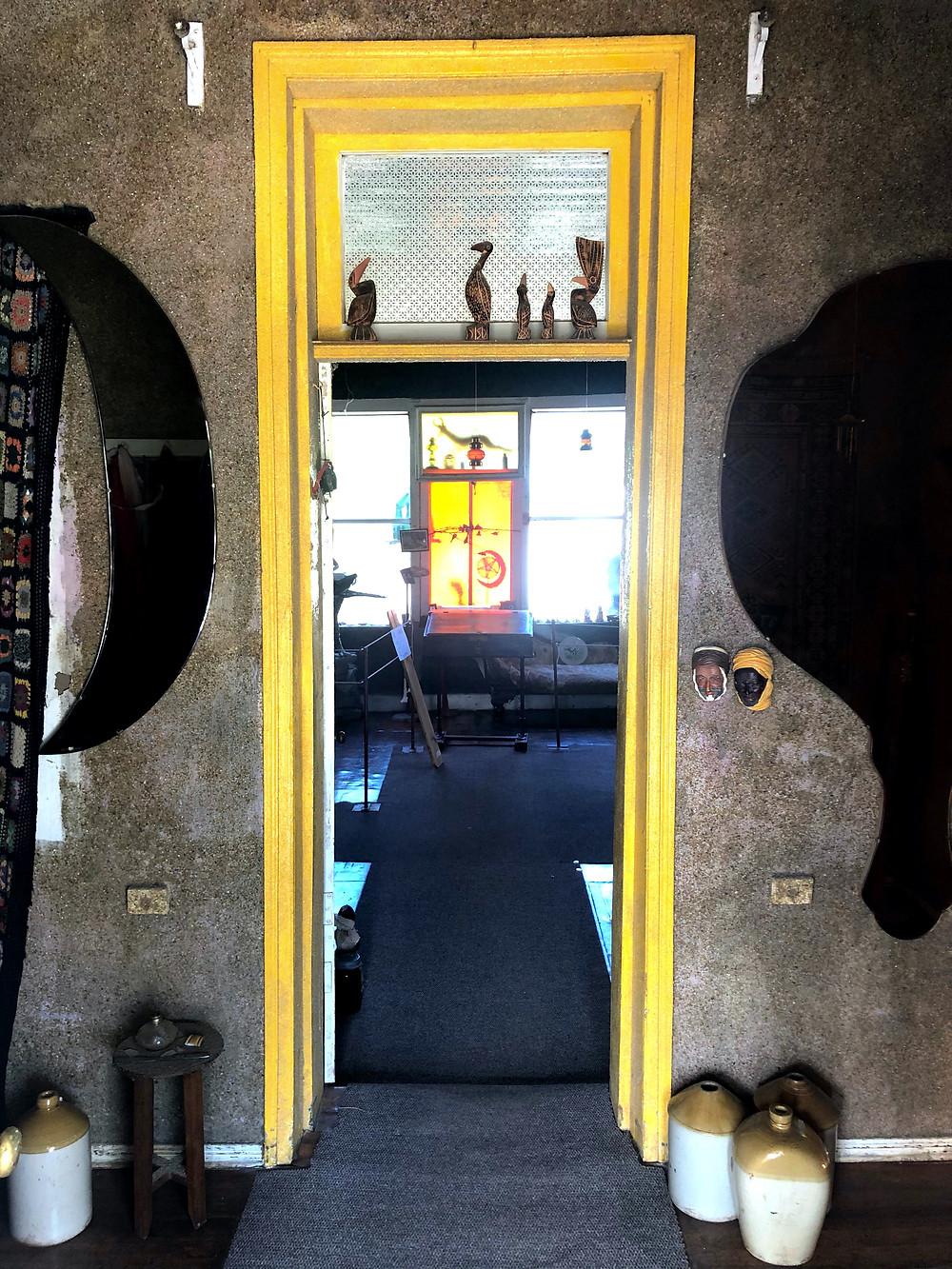 Entrance Owl House Nieu Bethesda Yellow Architrave