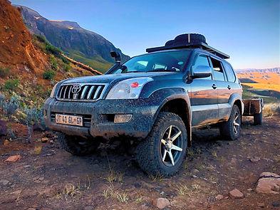 Bastervoetpad pass 4x4 tour, SA Adventure 4x4 tours, SA Adventure support truck, Panda the Prado, 4x4 Support Truck