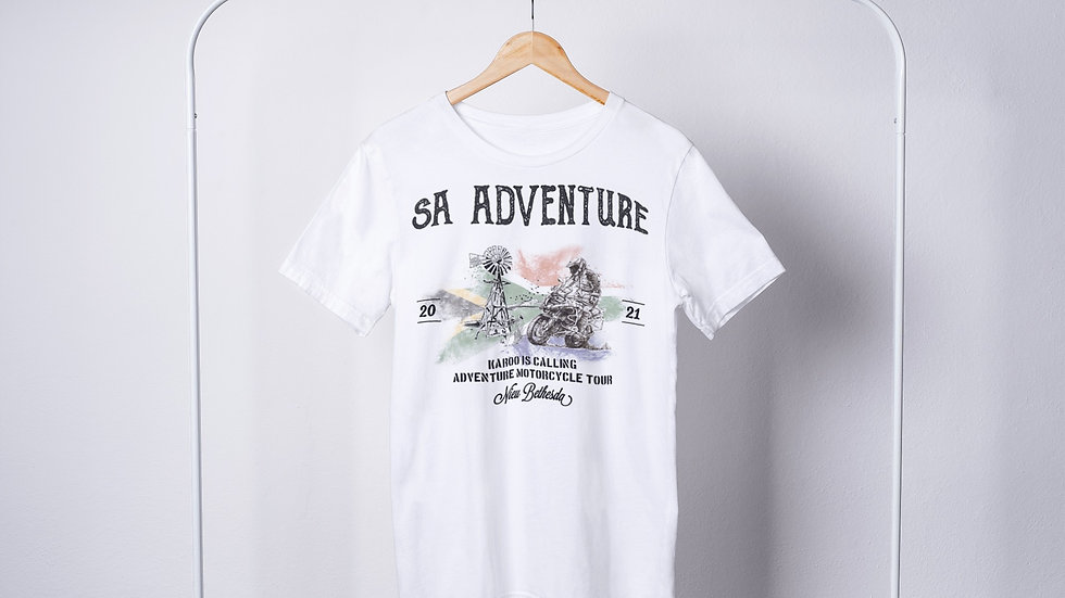 Karoo is Calling Motorcycle Nieu Bethesda Tour T-Shirt
