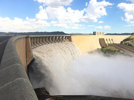 Gariep Dam Overflowing, Adventure bike tour