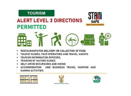 Tourism Level 3 Lockdown Update...