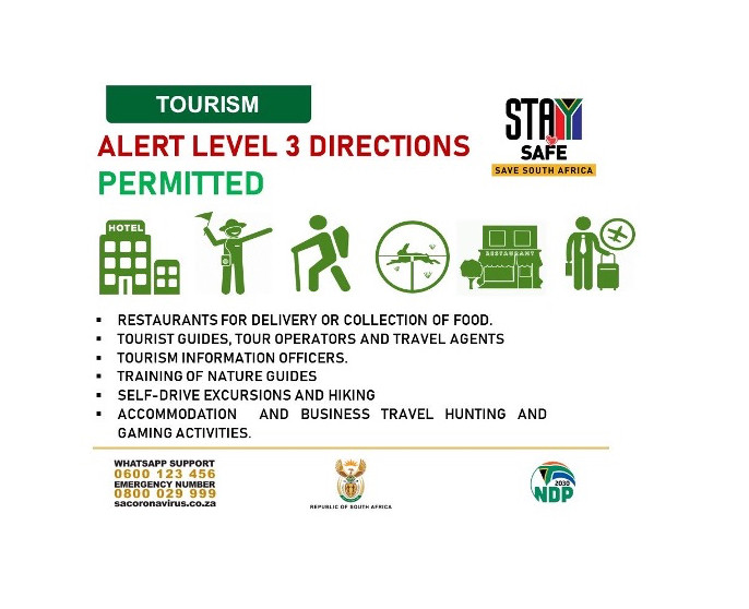 South African Tourism Level 3 Restrictions