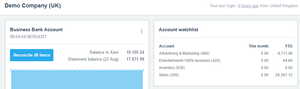 Xero Demo company screenshot