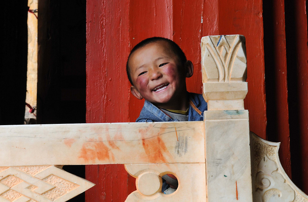 A laughing child from China