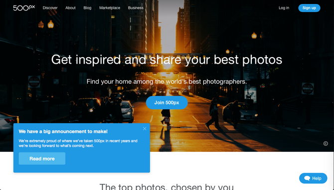500PX is acquired. Be mindful.