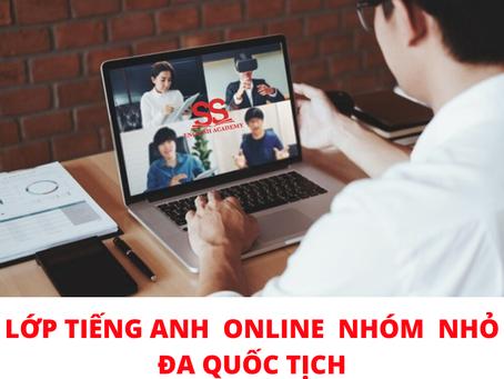 Tặng 1 tháng trải nghiệm miễn phí học lớp tiếng Anh Online nhóm nhỏ 4 học viên, đa quốc tịch.