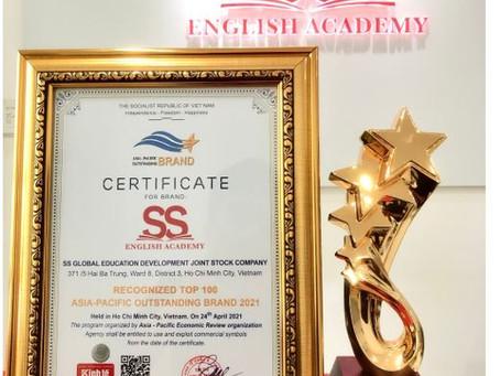 SS ENGLISH ACADEMY VINH DỰ ĐÓN NHẬN TOP 100 THƯƠNG HIỆU TIÊU BIỂU CHÂU Á THÁI BÌNH DƯƠNG 2021