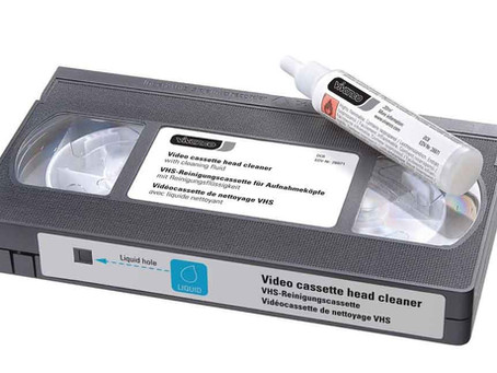 Cleaning VCR Tape Heads
