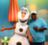 Pastor Brandon and Olaf