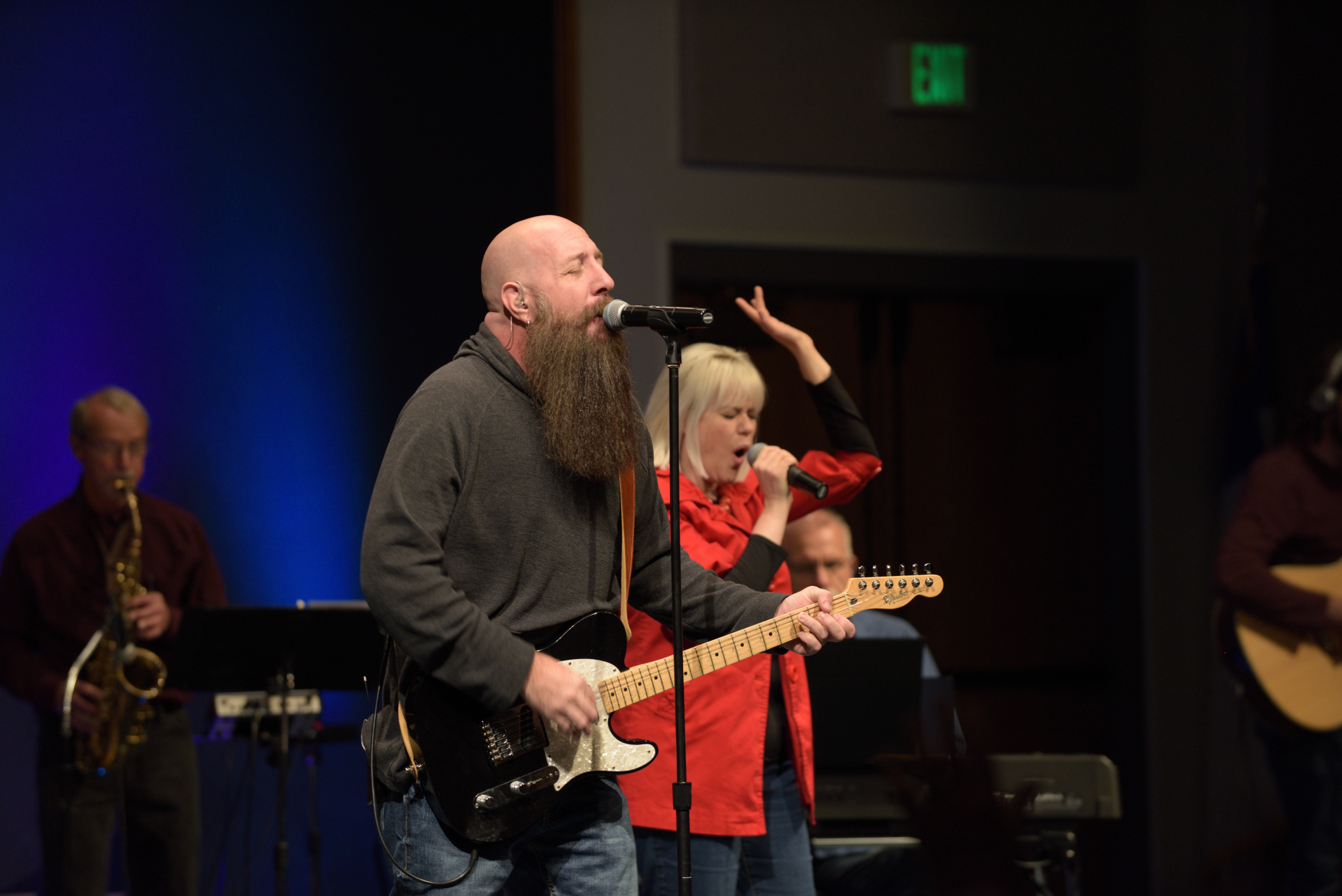 two worship leaders
