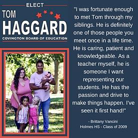 Haggard BOE Campaign Endorsements - B. V