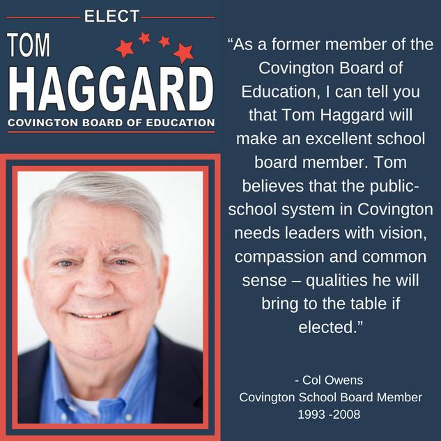 Haggard BOE Campaign Endorsements - C. O