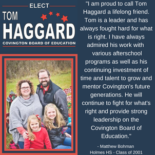 Haggard BOE Campaign Endorsements - M. B
